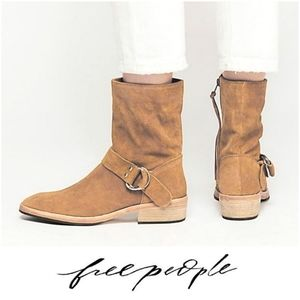 Stylish Free People Slightly Distressed Ankle Boot